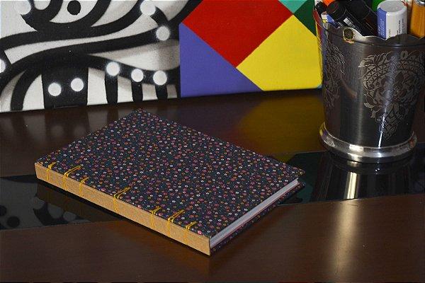 Caderno sem pauta - Florido
