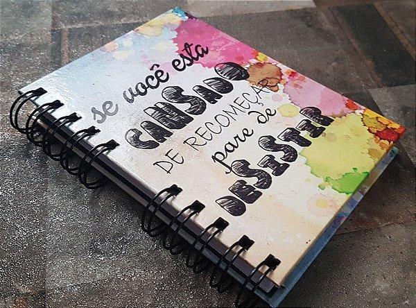 Caderno Pautado Espiral A6 - Nunca desista
