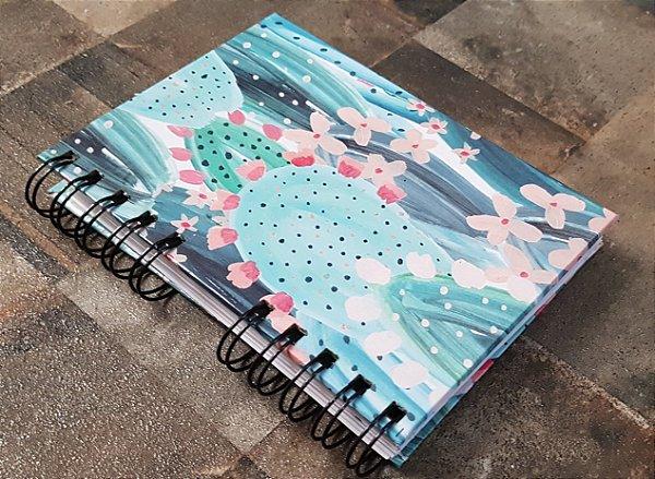 Caderno Pautado Espiral  A6 - CACTO
