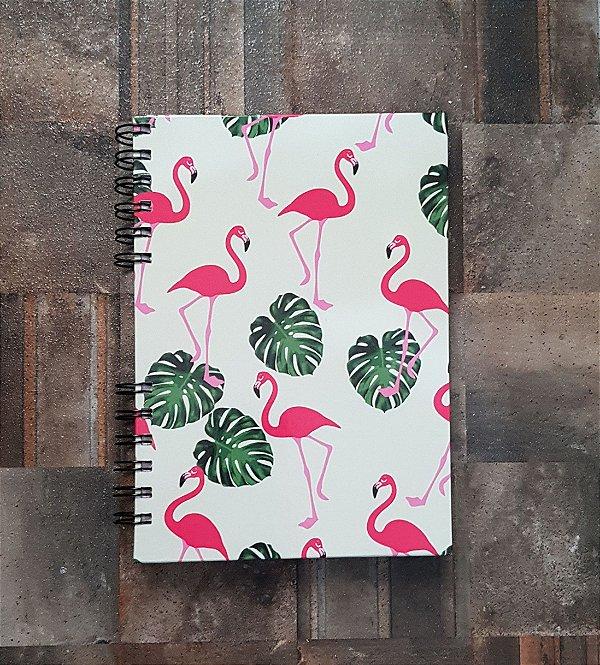 Caderno Pautado Espiral  A5 - FLAMINGOVERDE