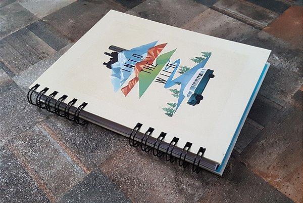 Caderno Pautado Espiral  A5 - INTO THE WILD