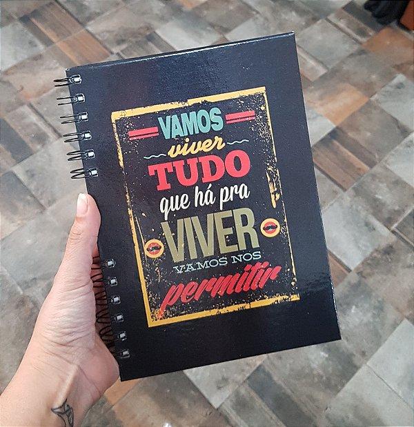 Caderno Pautado Espiral  A5 - VAMOS VIVER