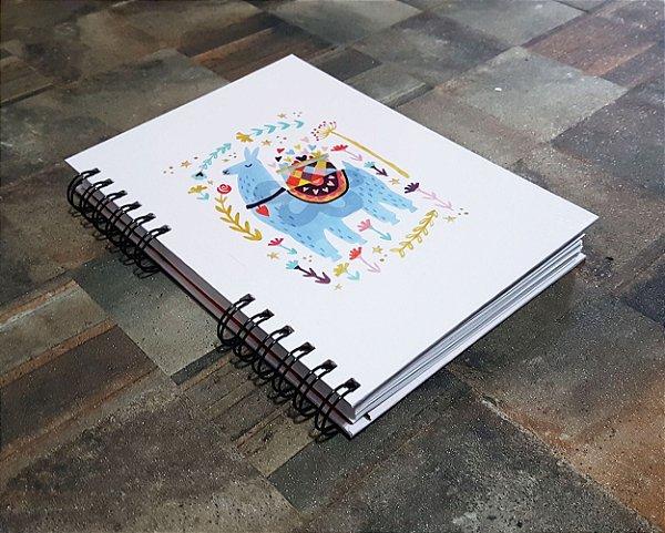 Caderno Pautado Espiral  A5 - LHAMA