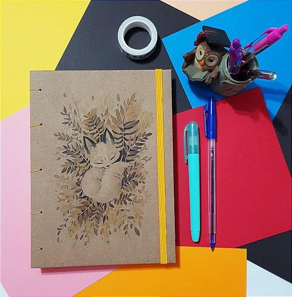 Sketchbook Kraft Eco Pólen - Raposa