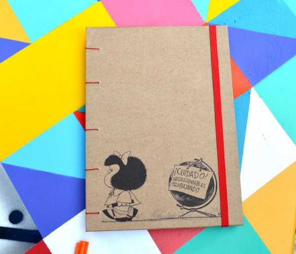 Sketchbook Kraft Eco Pólen - Mafalda