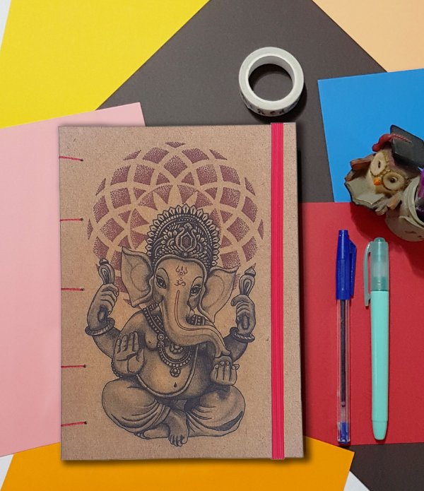 Sketchbook Kraft Eco Pólen - Ganesha