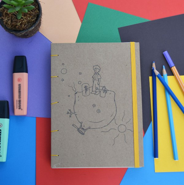 Sketchbook Kraft Eco Pólen - Pequeno Príncipe