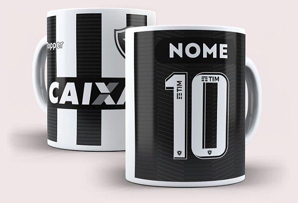 Caneca Botafogo com nome