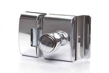 Fechadura Elétrica de  Blindex  Perfuração Furo Porta Abrindo Para Dentro.