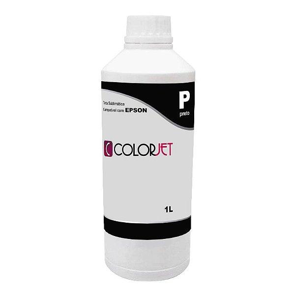 Tinta Sublimática Preta Compatível Colorjet para Epson