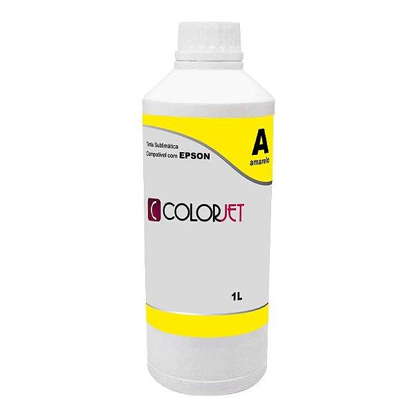 Tinta Sublimática Amarela Compatível Colorjet para Epson 1L