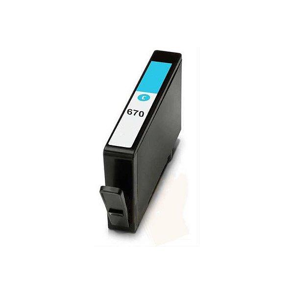 Cart. Tinta Compat. MyToner para HP HP 670 CZ114AB Ciano