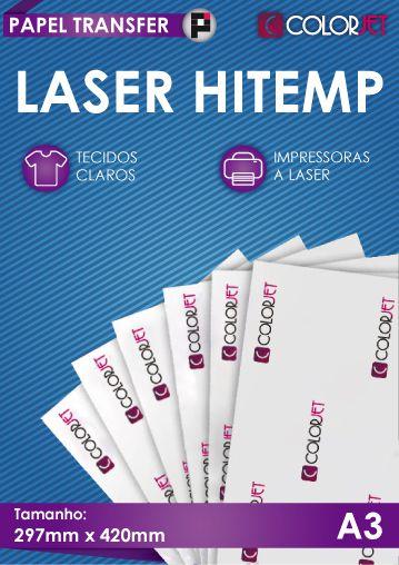 Papel Transfer Colorjet Laser HiTemp A3