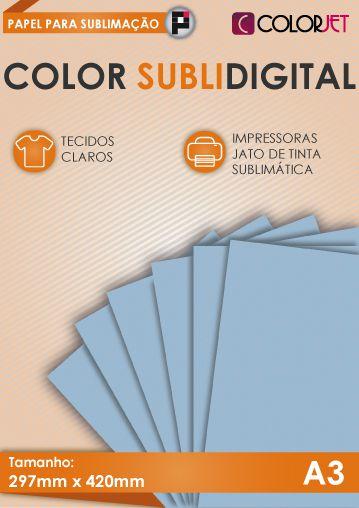 Papel p/ Sublimação 100 folhas Color Subli Digital A3