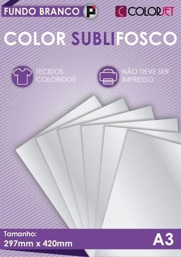 Papel Color Subli Fosco A3 25 folhas
