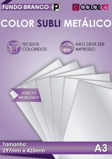 Papel Color Subli Metálico A3