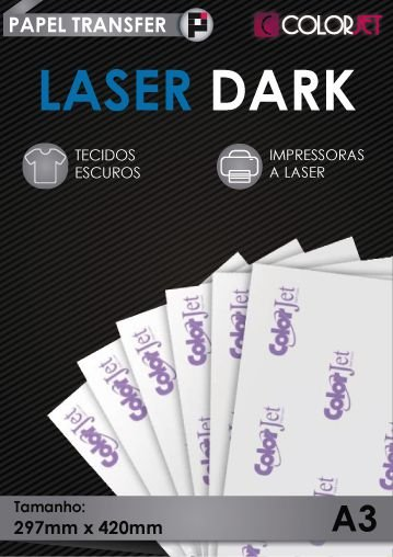 Papel Transfer Colorjet Laser Dark  – A3