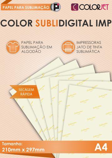 Papel Colorjet Subli Digital Imp A4