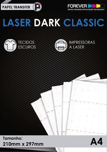 Papel Transfer 50 folhas Forever Laser Dark Classic A4