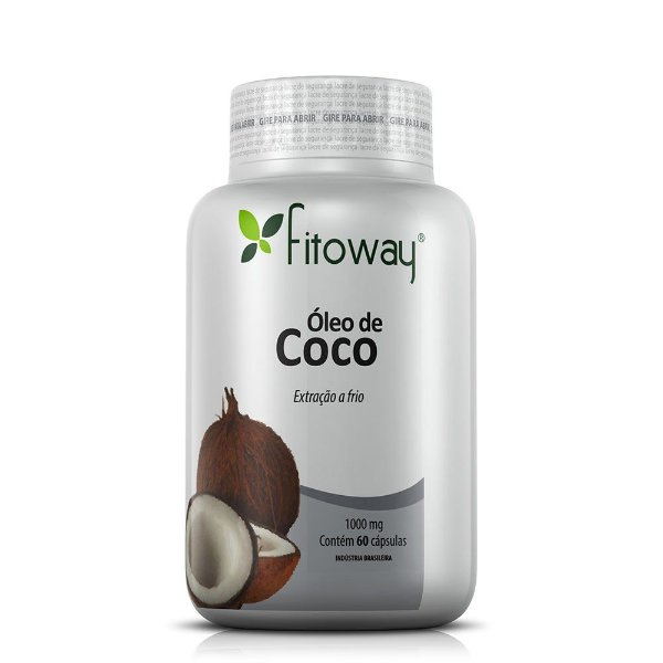 Óleo de Coco 1000mg - 60 Cápsulas (Fitoway)