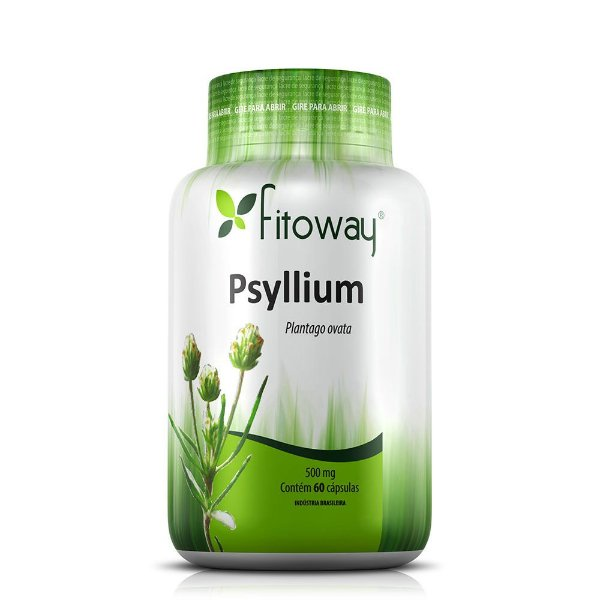 Psyllium 500mg - 60 Cápsulas (Fitoway)