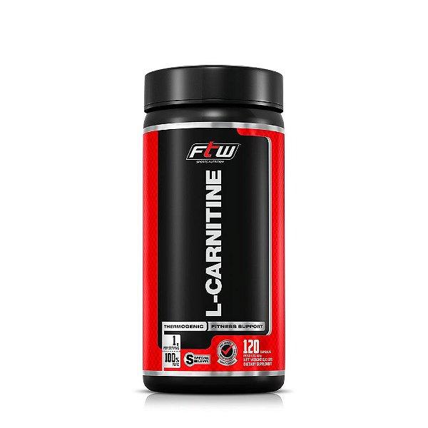 L-Carnitine 500mg - Potente Queimador de Gorduras 120 Cápsulas (Ftw)