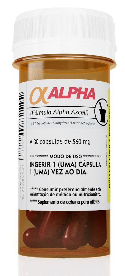 Alpha Axcell Cafeína 210mg 30 Cápsulas Power Supplements