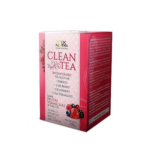Clean Tea Sabor Frutas Vermelhas - 150g (MIX NUTRI)
