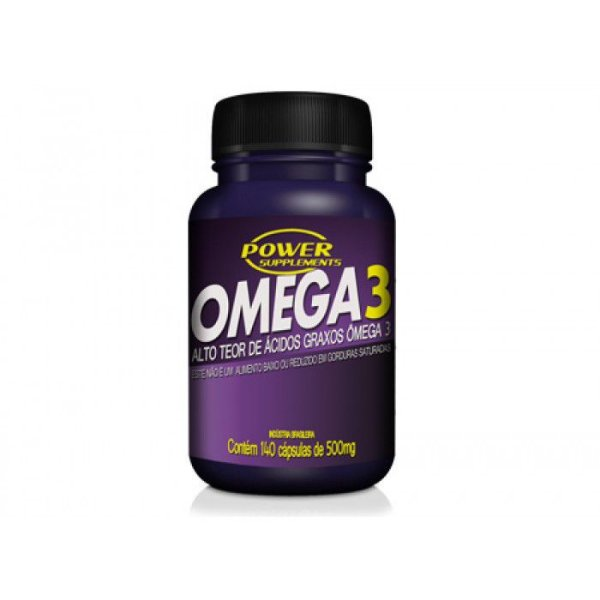Ômega 3 Óleo de Peixe 500mg - 140 Cápsulas - Power Supplements