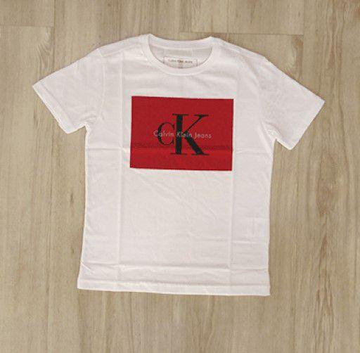 Camisa Infantil Masculina - Calvin Klein - Manga Curta Calvin Klein ... ddf489435c0