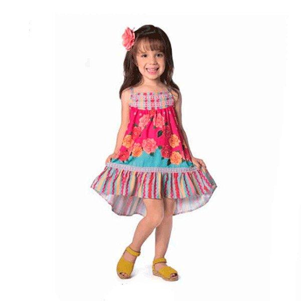 78ae4b5efc Vestido Infantil Sem Manga Floral - Mon Sucre - Roupa infantil e ...