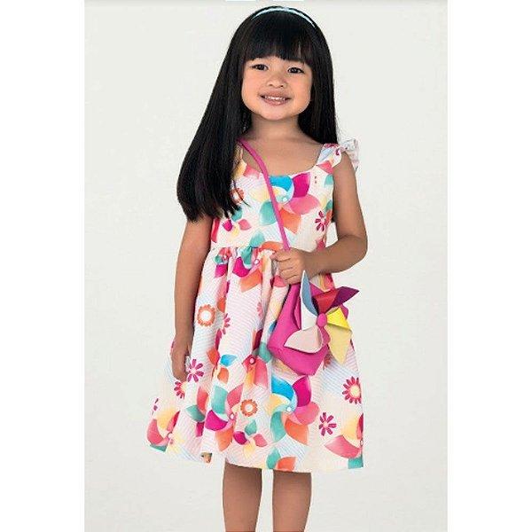 Ab20eb1233 Vestido Infantil De Festa Mon Sucré Com Bolsa