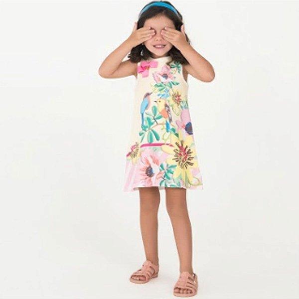 19ecc42f63 Vestido Infantil Sem Manga Passaros - Mon Sucre - Roupa infantil e ...