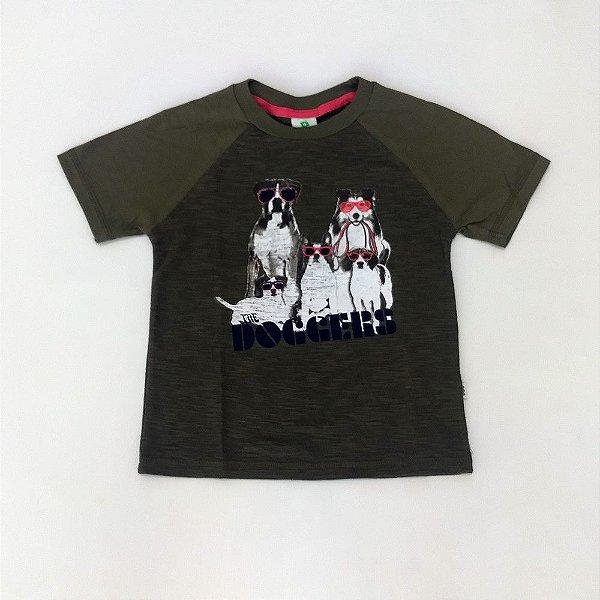 51c1e232d1 Camisa Infantil Masculina - Hering Kids - Manga Curta Familia Canina ...