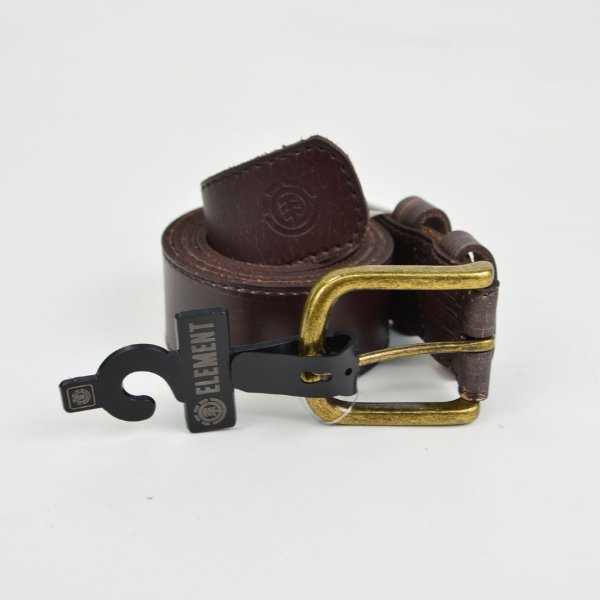 Cinto Element Vault Leather Brown