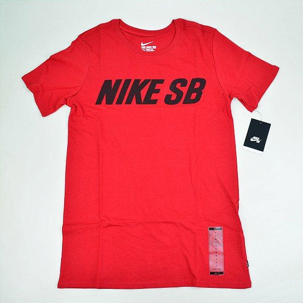 Camiseta Nike SB Block Vermelha