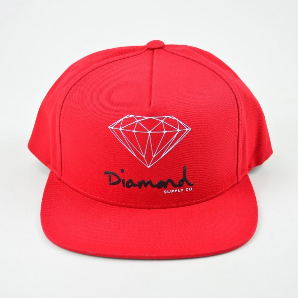 Boné Snapback Diamond Og Sign Red