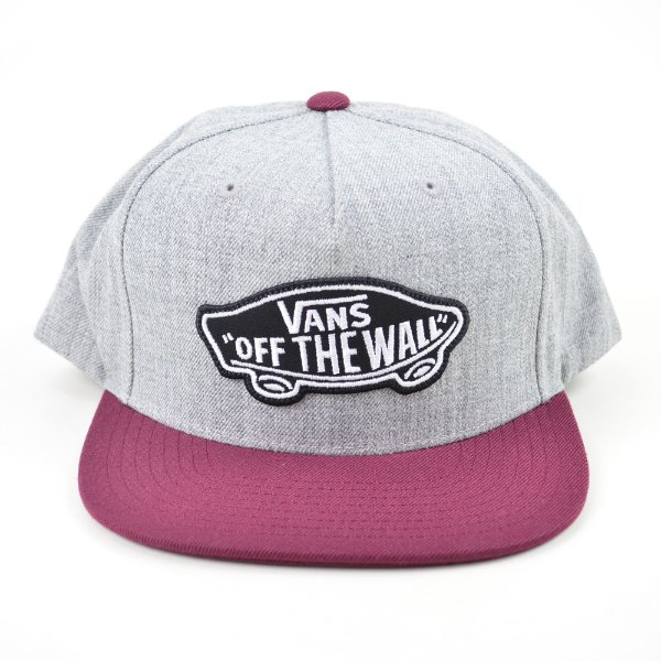 Boné Vans Classic Patch Snapback Heather Gray Wine