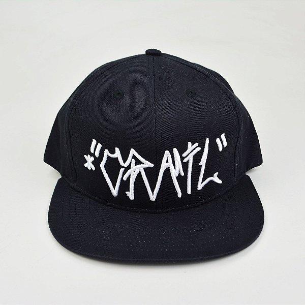 Boné Crail Snapback Logo Branco