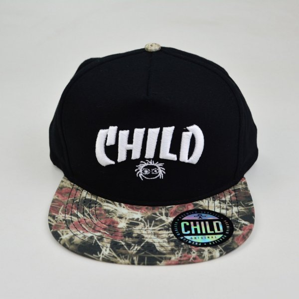Boné Child Winter Flowers Snapback Preto Flash