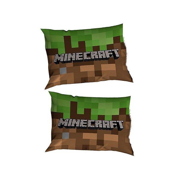 2 Capas de Travesseiros Minecraft