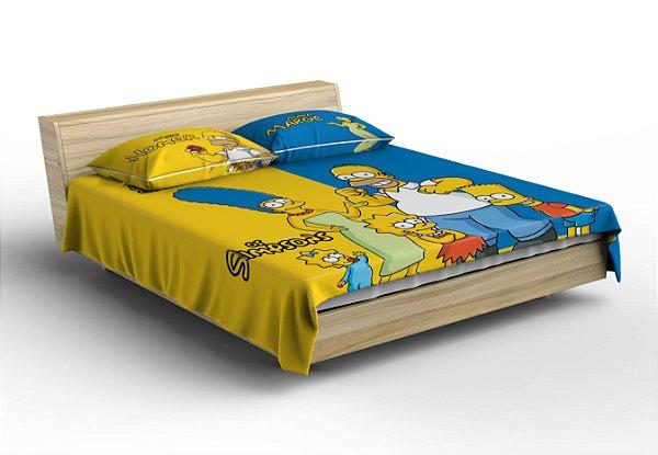 Colcha Os Simpsons para Cama De Casal