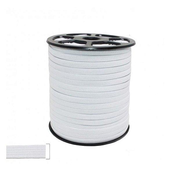 Elástico Branco Chato 5MM - 100 Metros