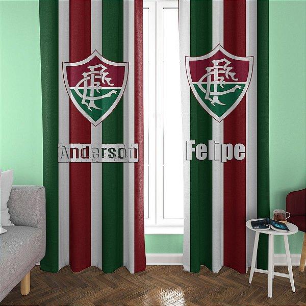 Cortina Blecaute do Fluminense - Personalizada com Nome - 1,40m Largura x 1,80m Comprimento