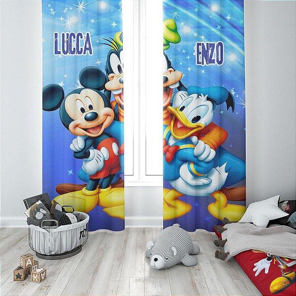 Cortina Blecaute do Mickey - Personalizada com Nome - 1,40m Largura x 1,80m Comprimento