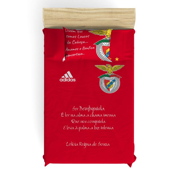 Colcha do Benfica para Cama de Solteiro Personalizado com Nome