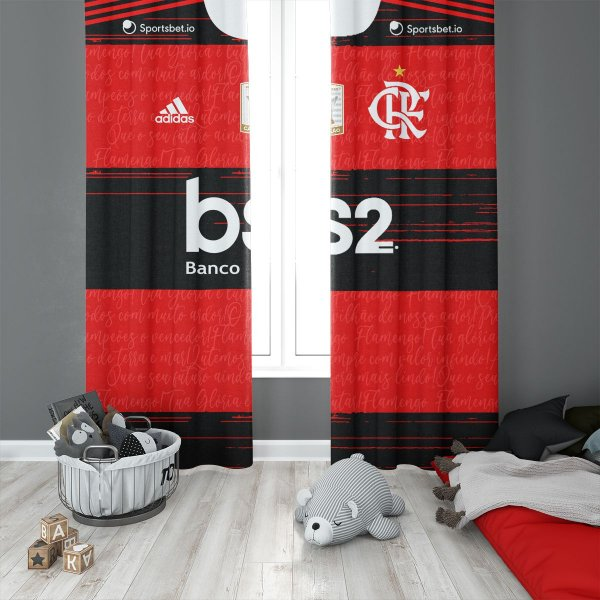 Cortina Blecaute  do Flamengo - Uniforme 2020-2021- 1,40L x 1,50m C