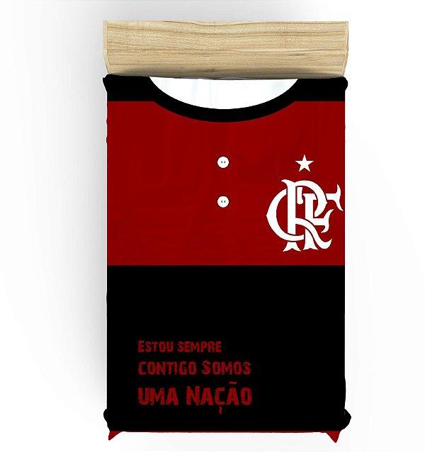 Lençol para Cama de Solteiro do Flamengo