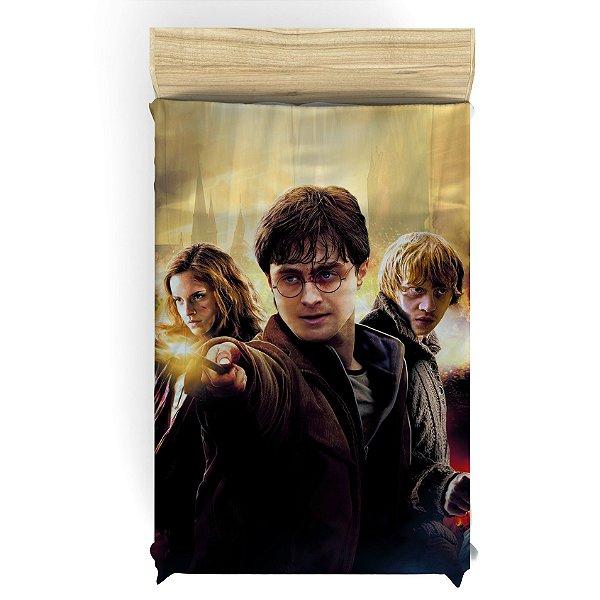 Lençol para Cama de Solteiro do Harry Potter