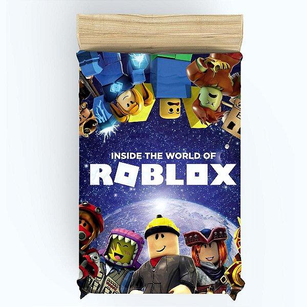 Lençol para Cama de Solteiro do Roblox